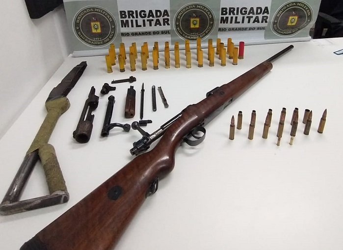 Homem é preso por porte ilegal de arma de fogo em Nova Prata