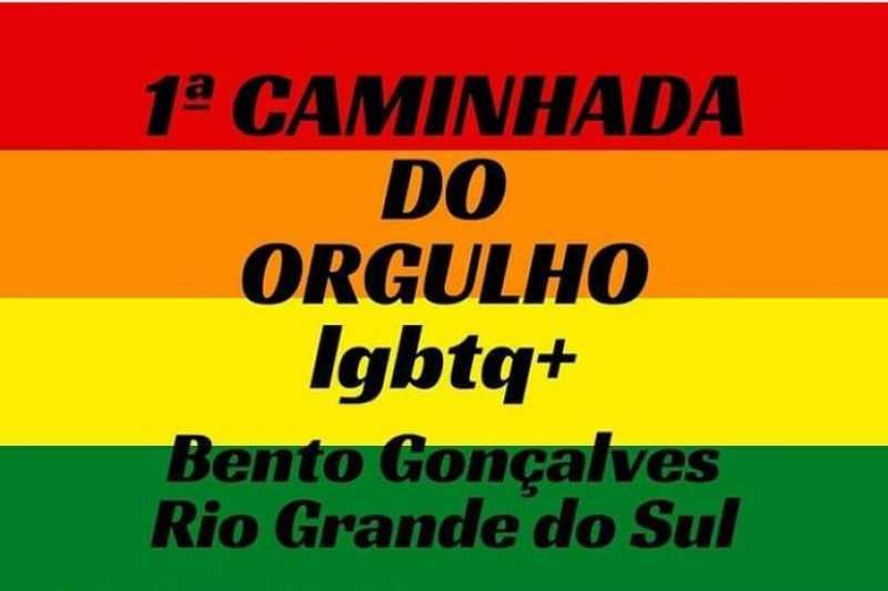 Grupo promove primeira caminhada do Orgulho LGBT em Bento