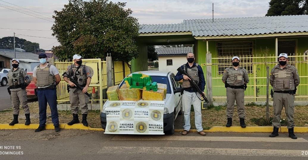 Adolescente é apreendido com mais de 160 kg de maconha em Pinhal da Serra