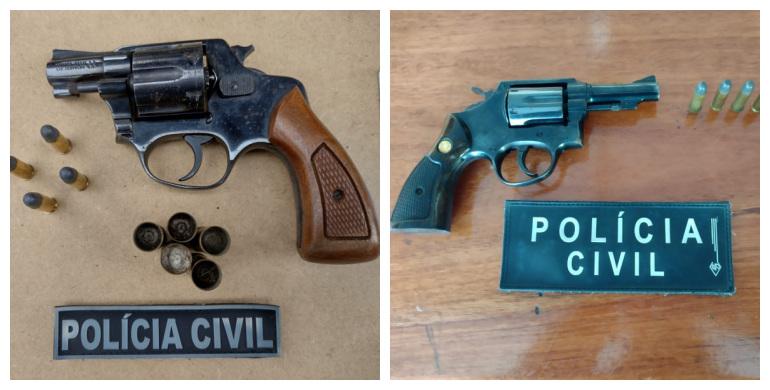 Polícia Civil apreende armas e munições em ação em Bento