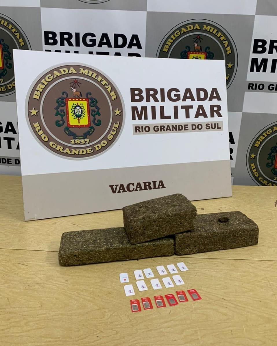Brigada Militar prende dois homens por tráfico de drogas em Vacaria