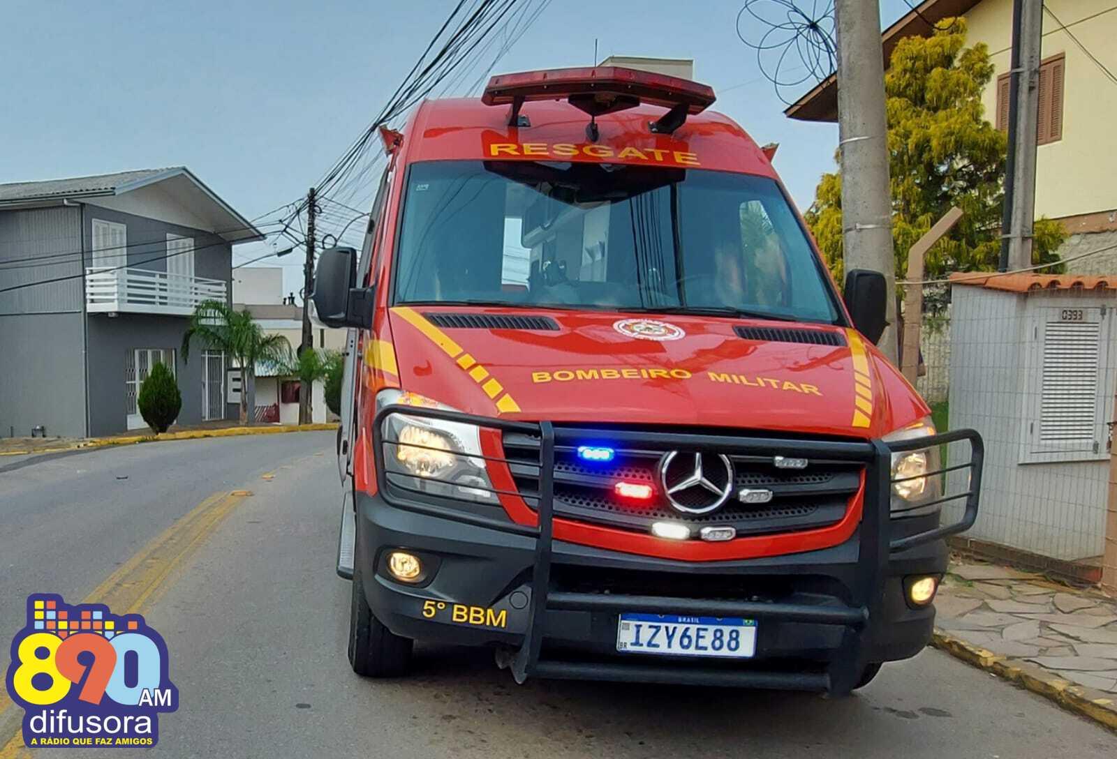 Duas pessoas ficam feridas em acidente no Aparecida, em Bento