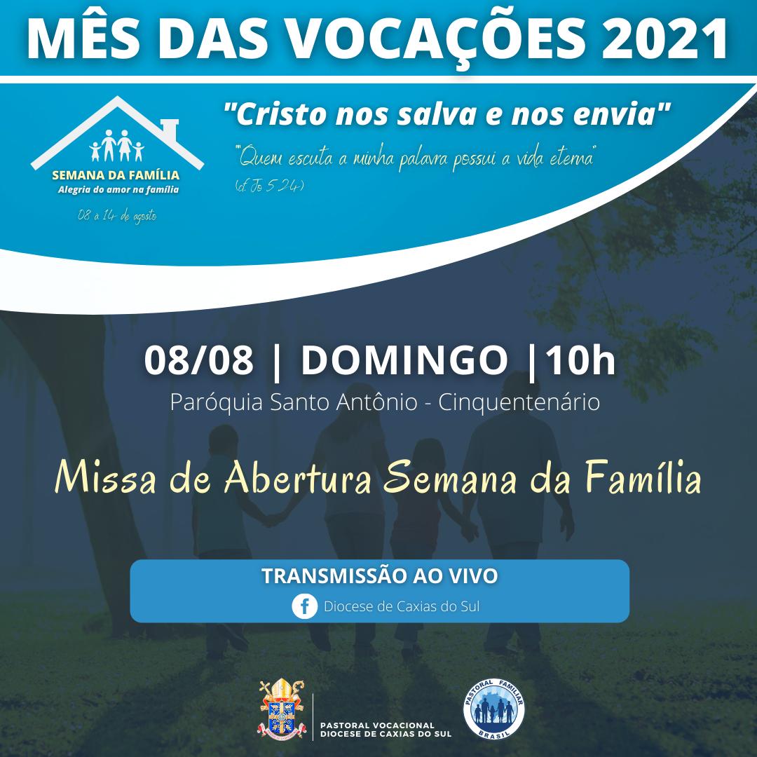 Semana da Família terá programação intensa na Diocese de Caxias do Sul