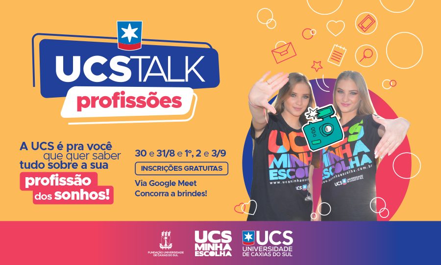 Com participação gratuita, lives do UCS Talk conectam estudantes com suas futuras profissões