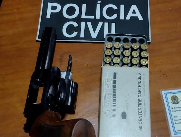 Polícia Civil apreende arma e munições durante operação em Bento Gonçalves