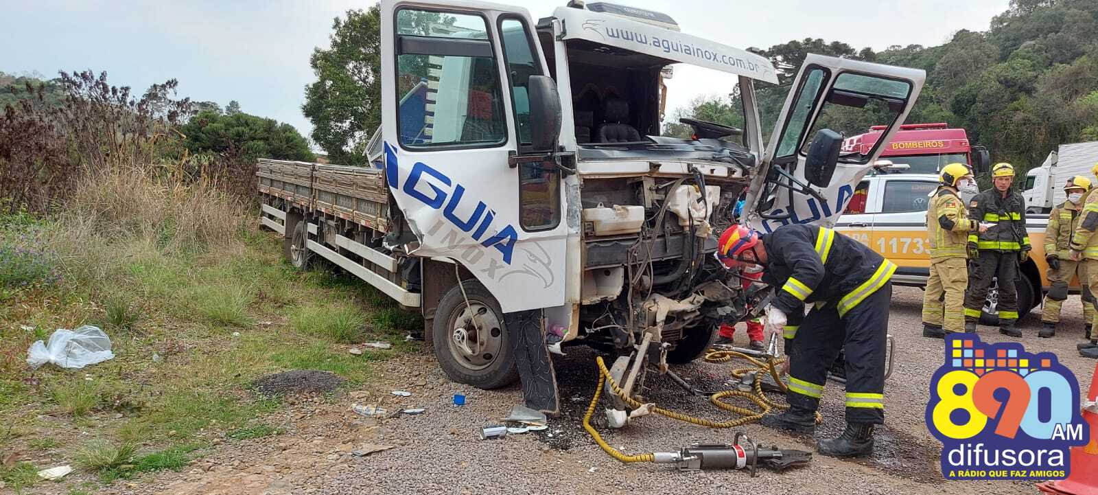 Homem fica ferido em acidente na RSC-453, em Garibaldi