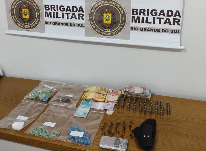 Três pessoas são presas por tráfico de drogas e roubo a mão armada em Antônio Prado