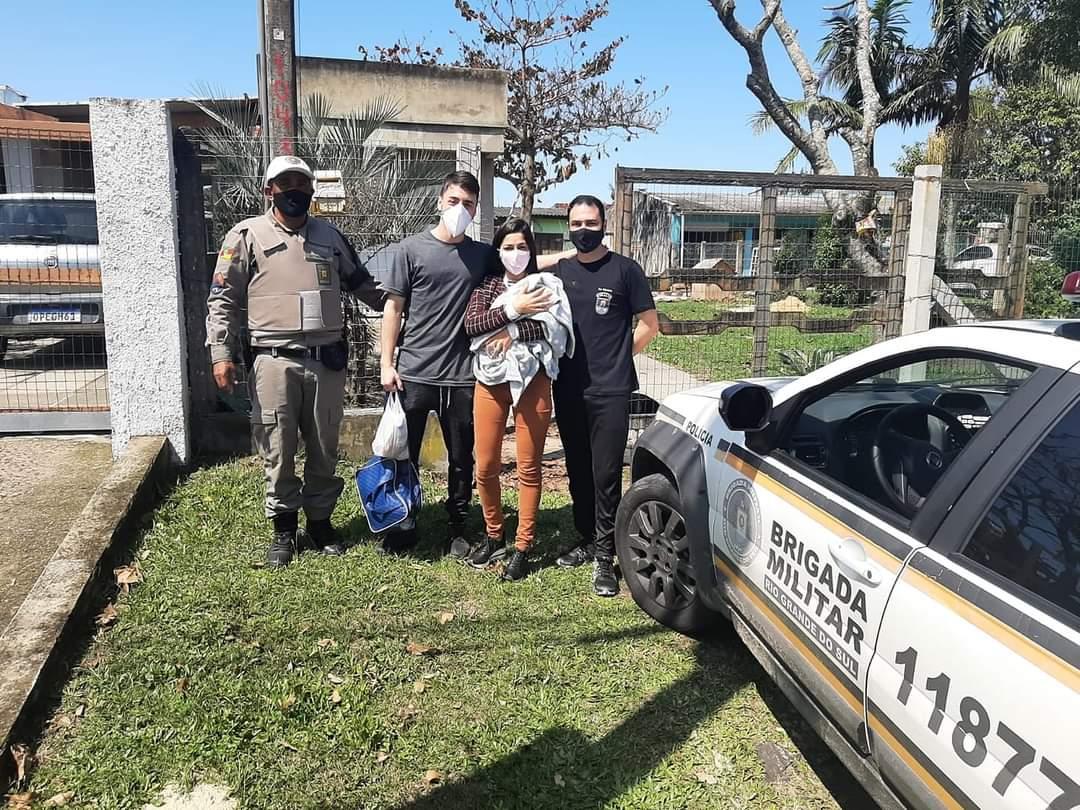 Policial militar de folga salva bebê engasgado em Capão da Canoa