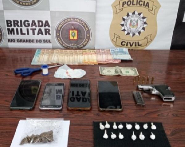 Quatro pessoas são presas após operação conjunta entre Polícia Civil e Brigada Militar em Paraí
