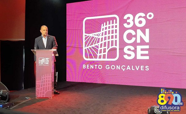 Ministro Onyx Lorenzoni palestra durante 36º CNSE em Bento Gonçalves