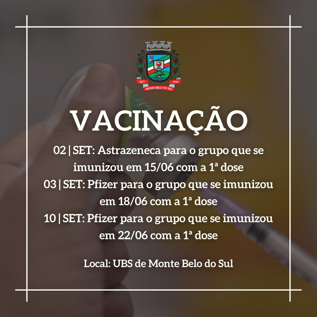 Monte Belo aplica 2ª dose da vacina com cronograma definido a partir desta quinta