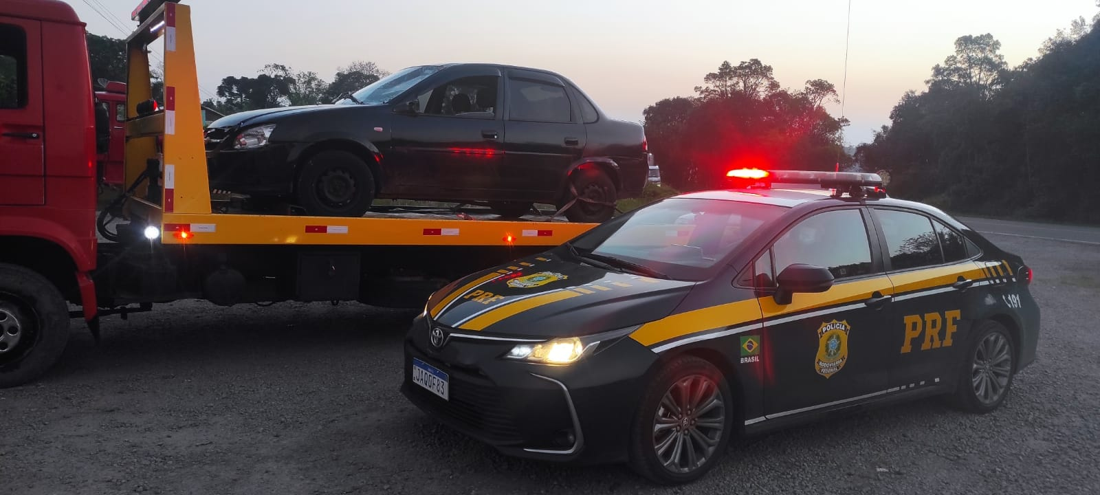 PRF localiza carro envolvido em atropelamento de ciclista em Bento