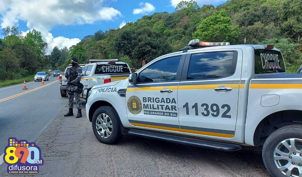 Identificados dois, dos três criminosos mortos em confronto com a BM em Garibaldi