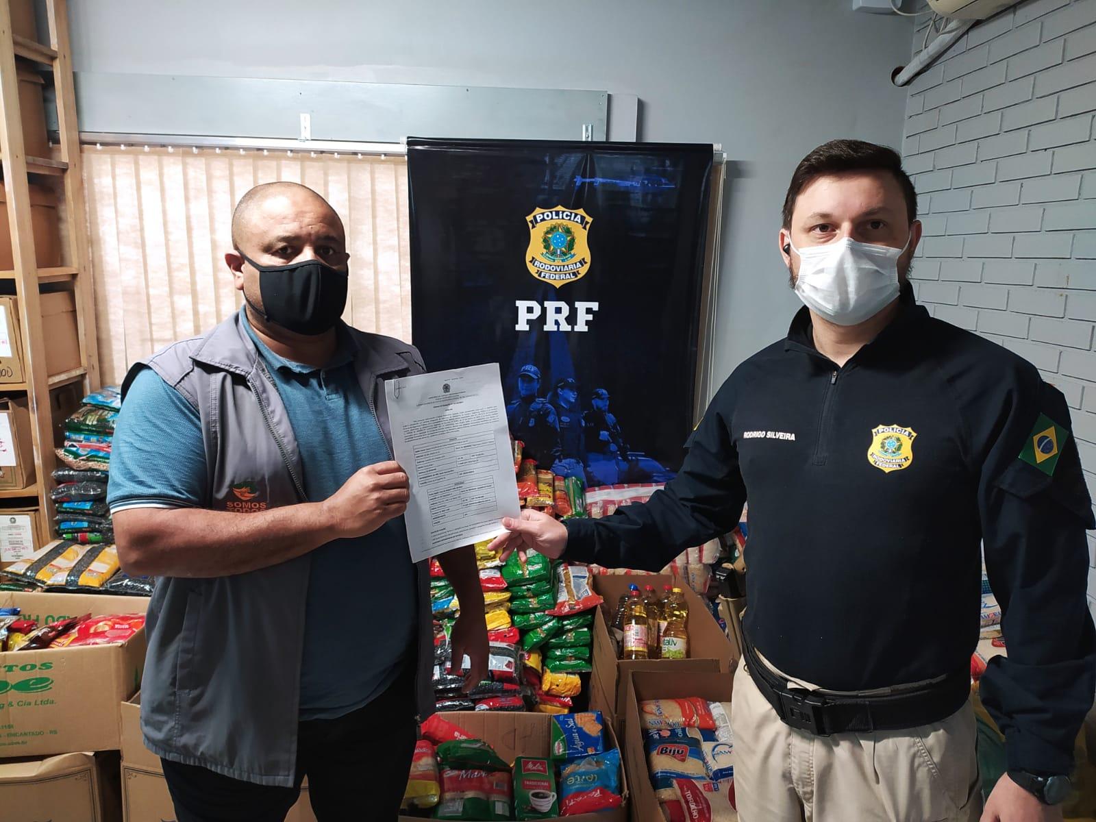 PRF realiza a entrega de quase 5 toneladas de alimentos a instituições de Lajeado e Montenegro
