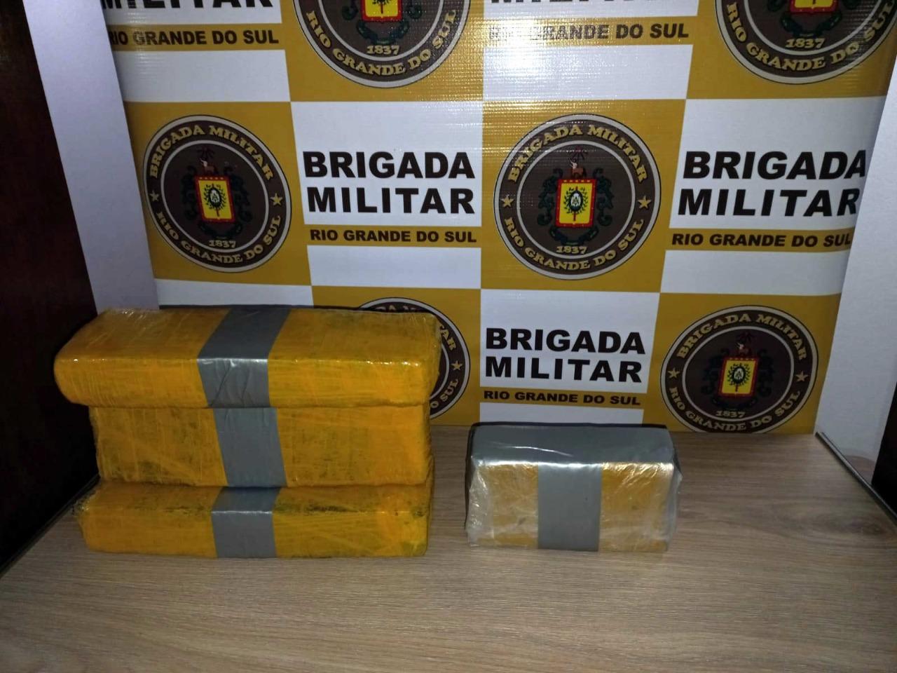 Brigada Militar prende traficante com três quilos de maconha em Nova Petrópolis