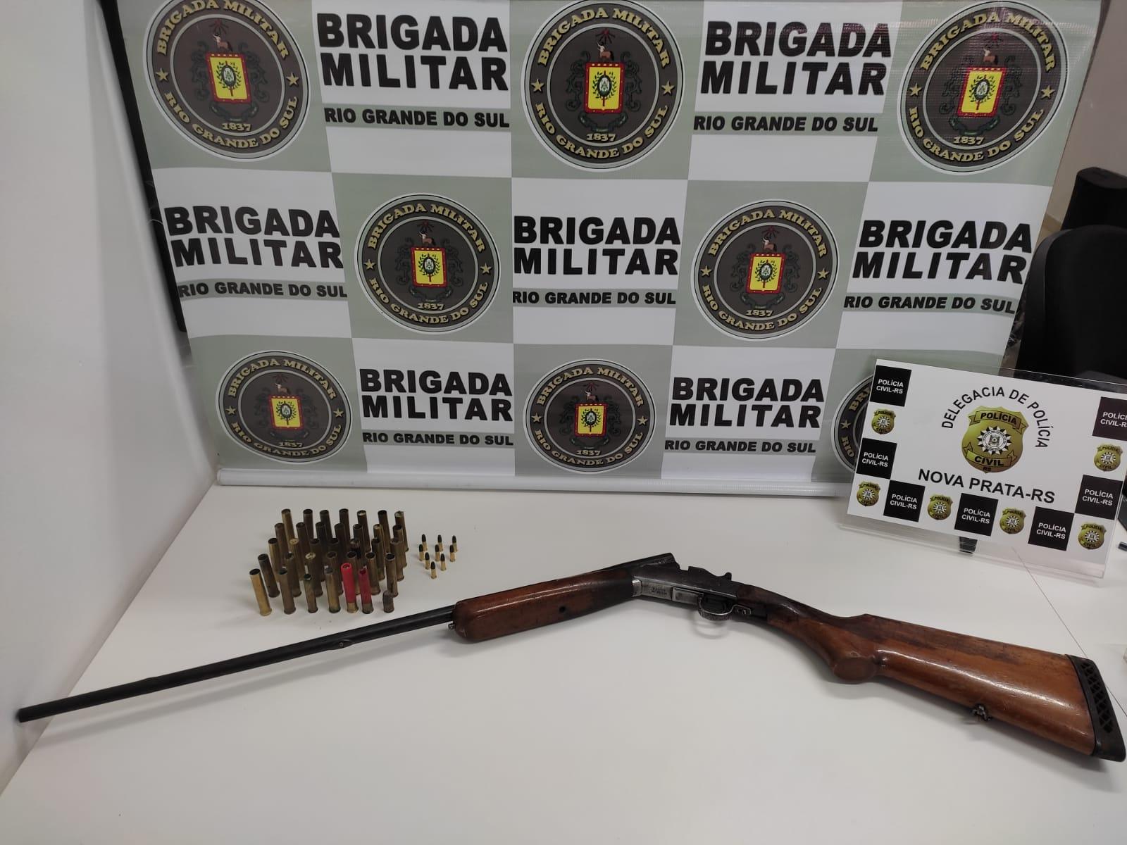 Brigada Militar e Polícia Civil cumprem mandado de busca e apreensão em André da Rocha