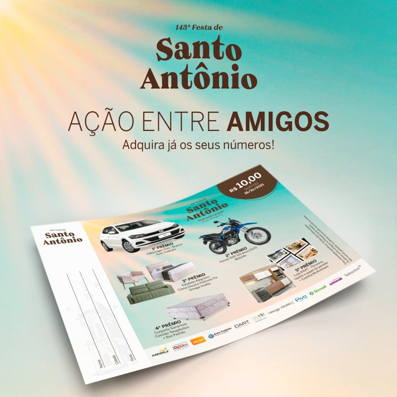 Último mês para a comunidade adquirir a Ação entre Amigos da 143ª Festa de Santo Antônio