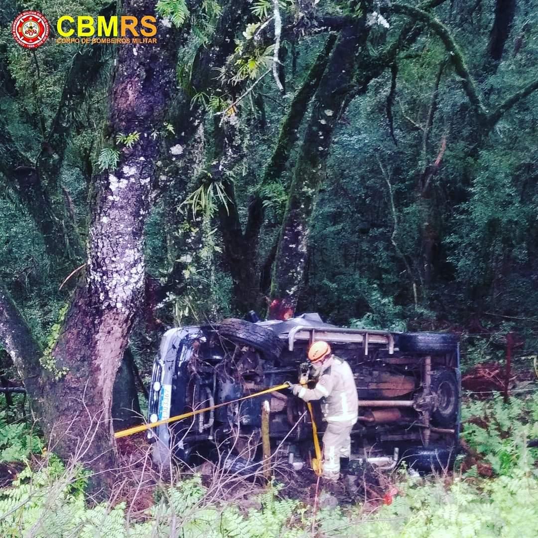 Acidente em Vacaria deixa dois mortos e três feridos na BR-116
