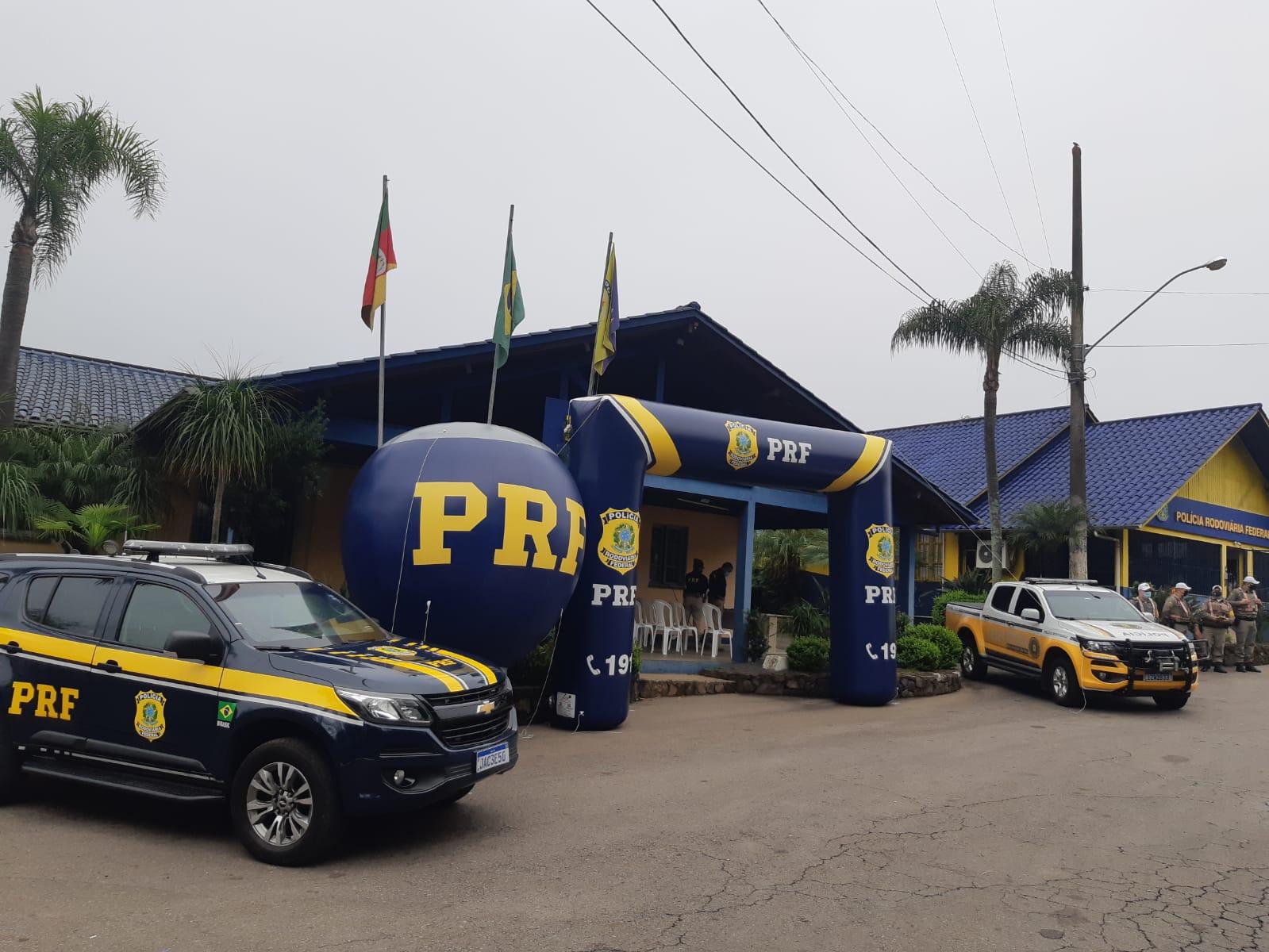 PRF realiza ação educativa em Bento Gonçalves.