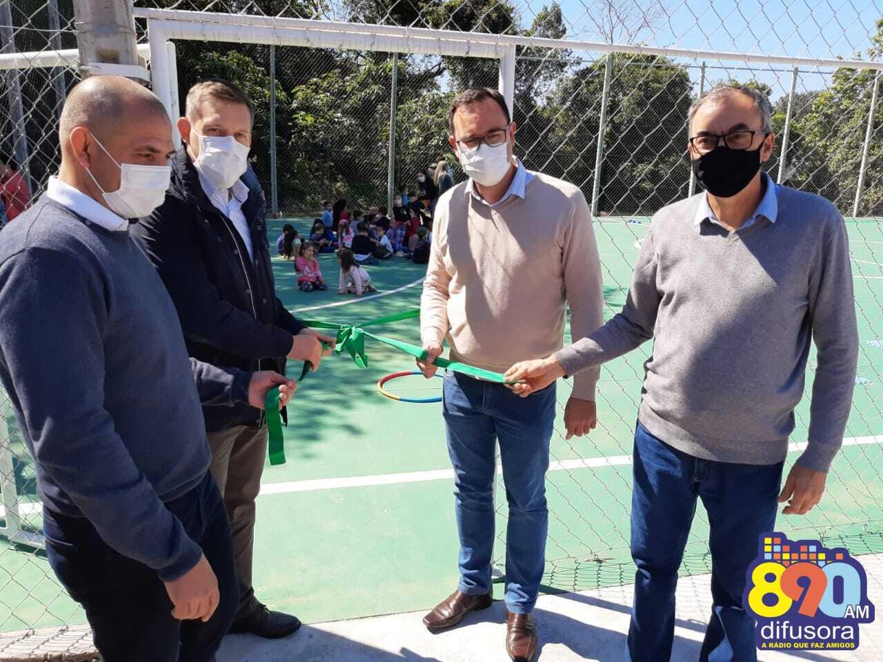 Quadra poliesportiva do Loteamento San Marino é inaugurada em Bento