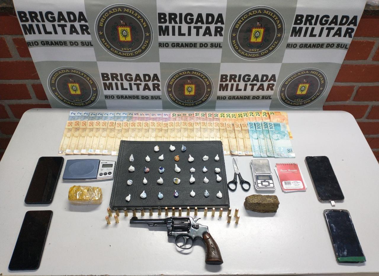 Três pessoas são presas por tráfico de drogas em Veranópolis