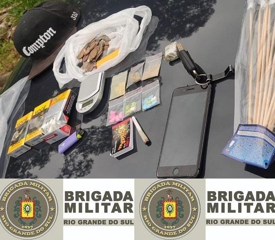 Brigada Militar prende dois indivíduos e apreende drogas no Ouro Verde, em Bento